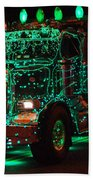 Lighted Green Dumptruck Beach Towel