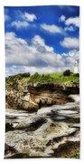 Lighthouse At Watson Bay Beach Towel