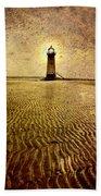Lighthouse Grunge Beach Towel
