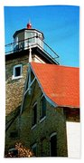 Lighthouse In The Fall Beach Towel