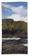 Lighthouse On Coastal Cliff Beach Towel