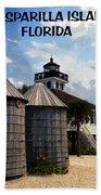 Lighthouse On Gasparilla Beach Towel