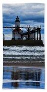 Lighthouse Reflections Beach Towel