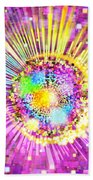 Lighting Effects And Graphic Design Beach Towel