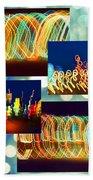 Lightshow Collage Beach Towel