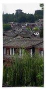 Lijiang Rooftops Beach Towel