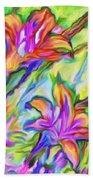 Lilies Transformed Beach Towel