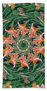 Lilly In Abstract Beach Towel