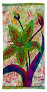 Lily Abstraction Beach Towel