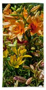Lily Garden Bouquet  Beach Towel