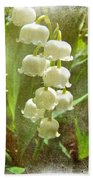 Lily Of The Valley - In White #2 Beach Towel