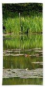 Lily Pads At Giverney Beach Towel