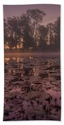 Lily Pads In The Fog Beach Towel