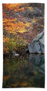 Lincoln Woods Autumn Boulders Beach Towel