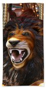 Lion Merry Go Round Animal Beach Towel