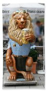 Lion Of Beer Beach Towel