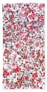 Lipstick And Eyeliner Abstract Beach Towel