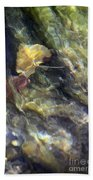 Liquid Leaves 2 Beach Towel