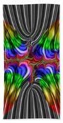 Liquid Metal Butterfly Beach Towel