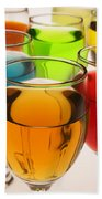 Liquor Glasses Beach Towel