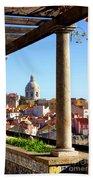 Lisbon View Beach Towel by Carlos Caetano