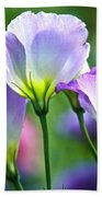 Lisianthus Number 6 Beach Towel