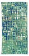 Little Blue Diamonds Beach Towel