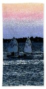 Little Boats Beach Towel