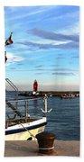Little Red Lighthouse Beach Towel