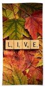 Live-autumn Beach Towel