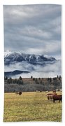 Livingstone Range And Pastureland Beach Towel