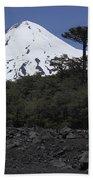 Llaima Volcano, Araucania Region, Chile Beach Towel