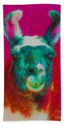 Llama Of A Different Color Beach Towel