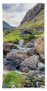 Llanberis Pass Beach Towel by Adrian Evans