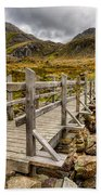 Llyn Idwal Bridge Beach Towel by Adrian Evans