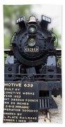 Locomotive 639 Type 2 8 2 Front View Beach Towel