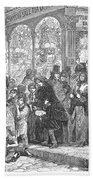 London: Christmas, 1866 Beach Towel