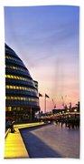 London City Hall At Night Beach Towel