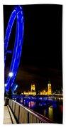 London Eye And London View Beach Towel