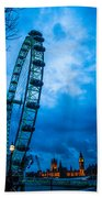 London Eye At Westminster Beach Towel