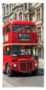 London Red Bus Beach Towel