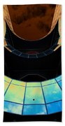 London Southbank Abstract View Beach Towel