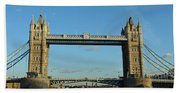 London Tower Bridge Looking Magnificent In The Setting Sun Beach Towel