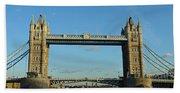 London Tower Bridge Looking Magnificent In The Setting Sun Beach Sheet