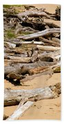 Lonely Driftwood Beach Towel