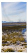 Lonely House On The Prairie Beach Towel