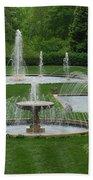Longwood Fountains 3 Beach Towel