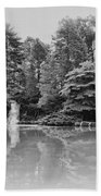 Longwood Gardens Castle In Black And White Beach Towel