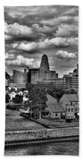 Looking Downtown From The Erie Basin Marina Beach Towel