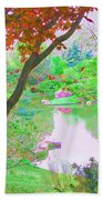 Looking Through The Trees  Beach Towel